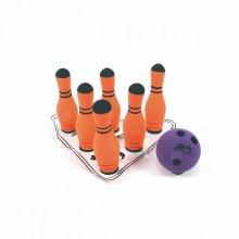 키드짐 - 미니 볼링놀이세트 6핀/구성: 핀6개+공1개+핀받침대+가방